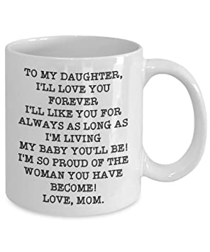 Blue Wedding Gift To Daughter From Mom Mug Quote To My Daughter