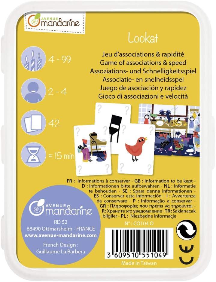 Avenue Mandarine CO101O Un jeu de 42 cartes 7 familles Moyens de transport en boite plastique refermable