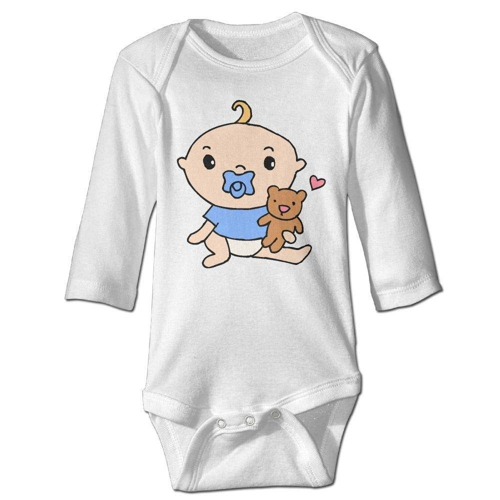 braeccesuit Infant Baby Play Bear Long Sleeve Romper Onesie Bodysuit Jumpsuit
