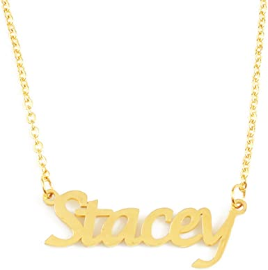 Zacria Lindsey Name Necklace 18ct Rose Gold Plated