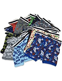 Basics Boys Big Boys & Toddlers Cotton Knit Underwear Boxer Briefs-Pack Of 12