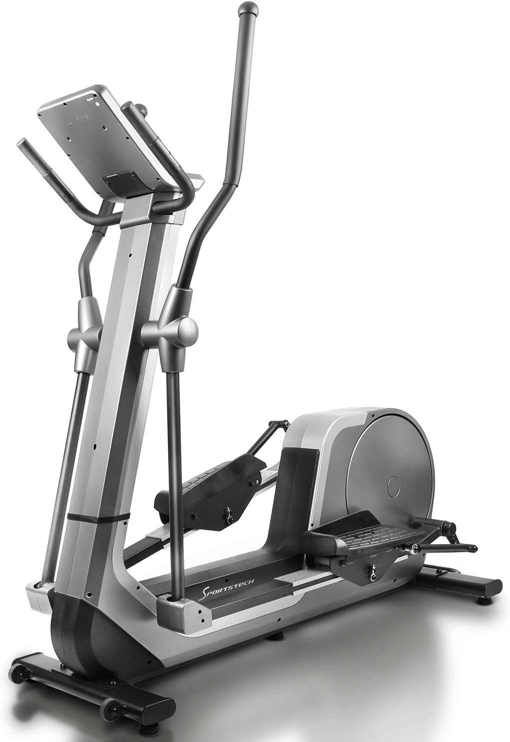 Sportstech Premium Bicicleta elíptica para Casa | Marca Alemana de Calidad | Eventos en Directo, App Multijugador & Consola Android | Elíptica para casa LCX800 | 12 programas & HRC-Mode - Vola