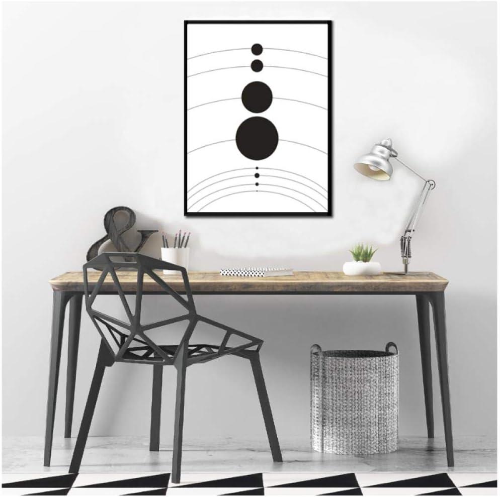 WSHIYI Sonnensystem Planet Poster Universum Leinwand Malerei Wandkunst Schwarz und Wei/ß Drucke Bilder f/ür Kinderzimmer Wohnkultur-40x60 cm Kein Rahmen