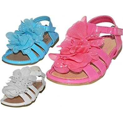 f8dfbb42c7b2 Image Unavailable. Image not available for. Color  Wholesale Toddlers Silk  Mesh Flower Top Sandals ...