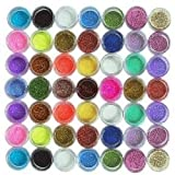 nykkola 45PC Nail Art Glitter Powder Dust Tips Decoration by NYKKOLA