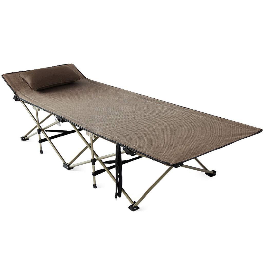 キャンプベッド折りたたみベッド屋外ポータブルキャンプベッド仮眠ベッド病院同伴ベッド (Color : Brown) B07STVJBLR Brown