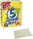 5 Second Rule Jr Junior Board Game Bundle with Chessex Drawstring Bag