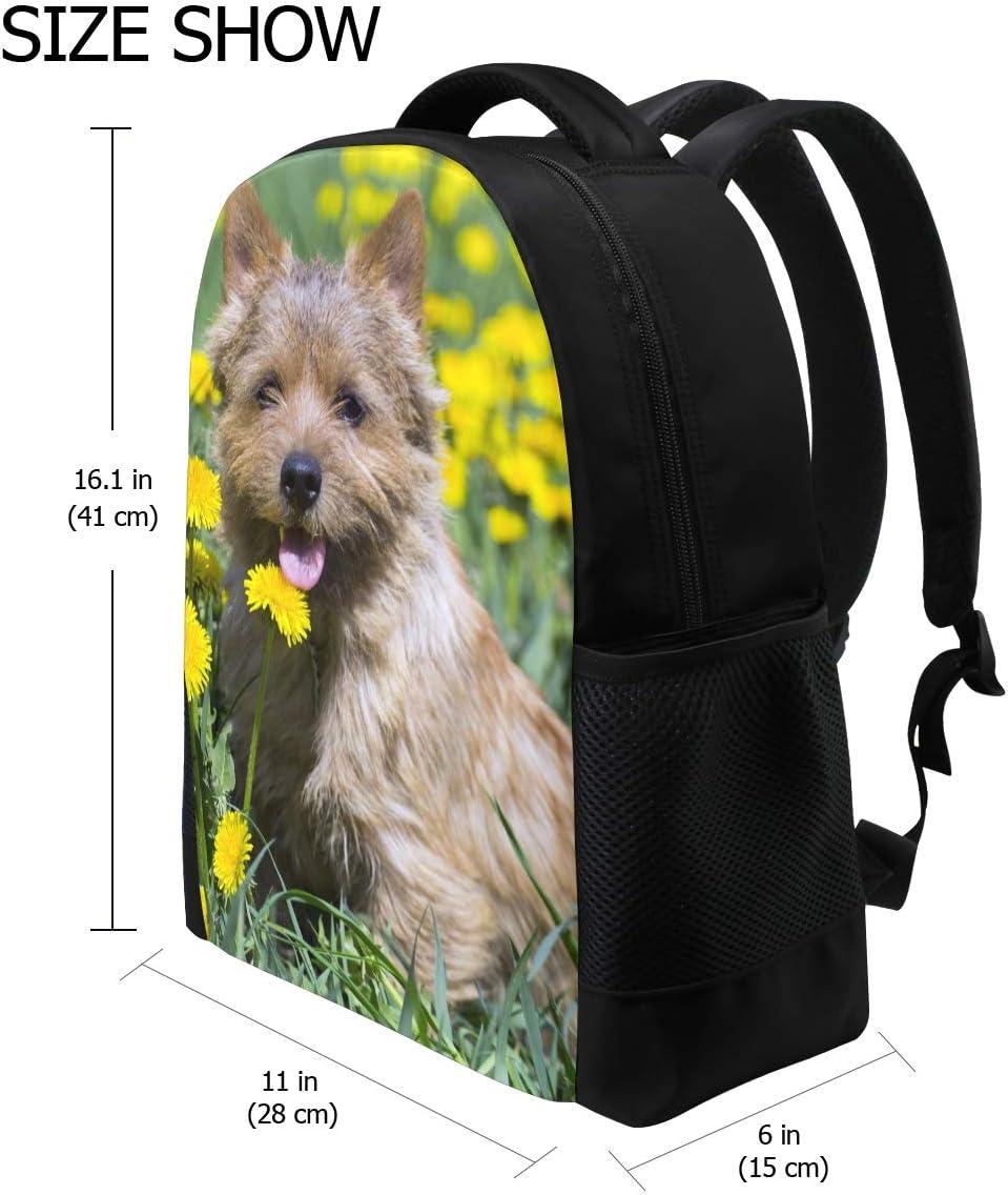 Akita-Inu Young Dog Print Laptop Backpack High School Bookbag Casual Travel Daypack