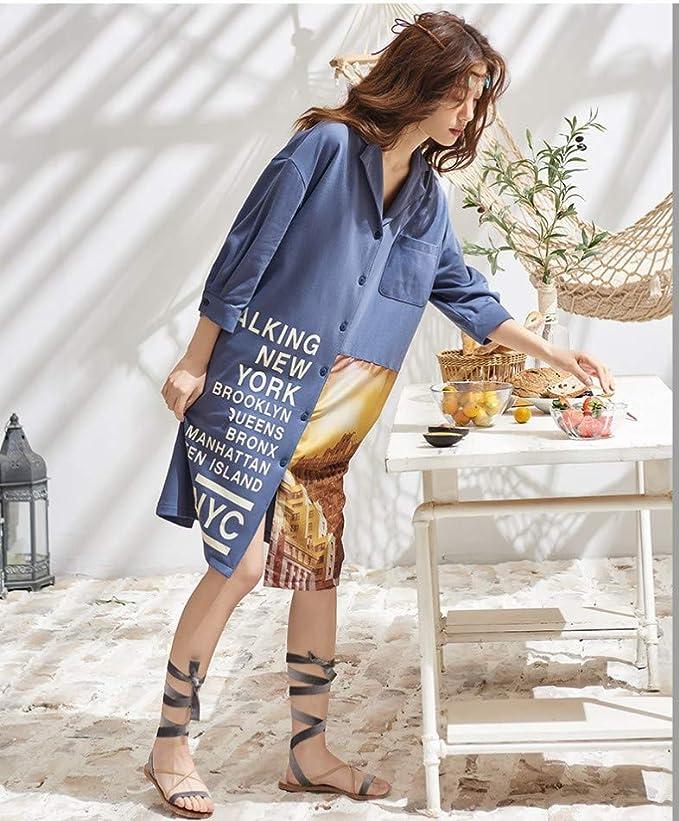 baijuxing Pijama camisón para Mujer Primavera y Verano ...