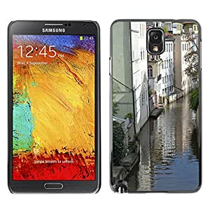 Hot Style Cell Phone PC Hard Case Cover // M00310519 Reflection Channel Prague Cities // Samsung Galaxy Note 3 III N9000 N9002 N9005