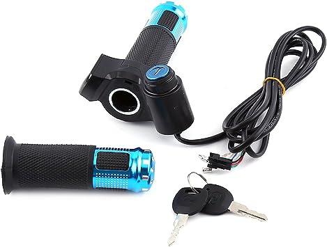 Alomejor Gasgriff Elektro-Bike Scooter Drehgriff Handgelenk Lenker Gasgriff mit LED-Display