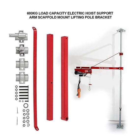 amazon com: hoist support 600kg load capacity scaffold mount lifting pole  bracket for electric hoist accesory: home improvement