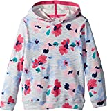 Joules Kids Baby Girl's Printed Hooded Sweatshirt (Toddler/Little Kids/Big Kids) Lily Pond Stripe 11/12