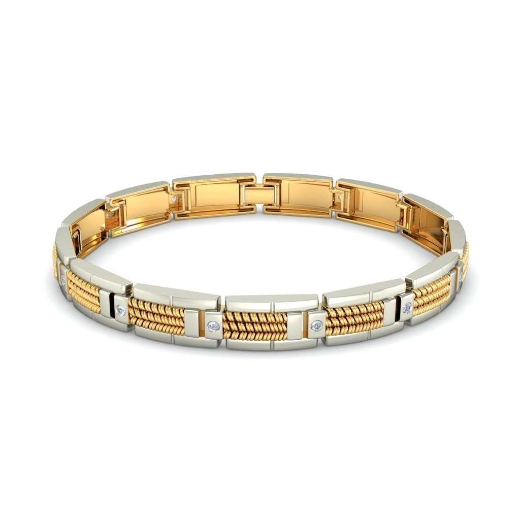 0.384 cttw Round-Cut-Diamond IJ| SI 6 inches 14K Yellow Gold HallMarked identification-bracelets Size