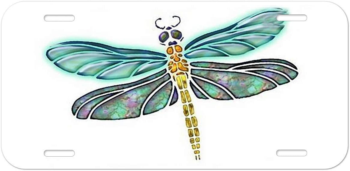 Dragonfly Heart Girl Vanity Front License Plate Tag KCE029