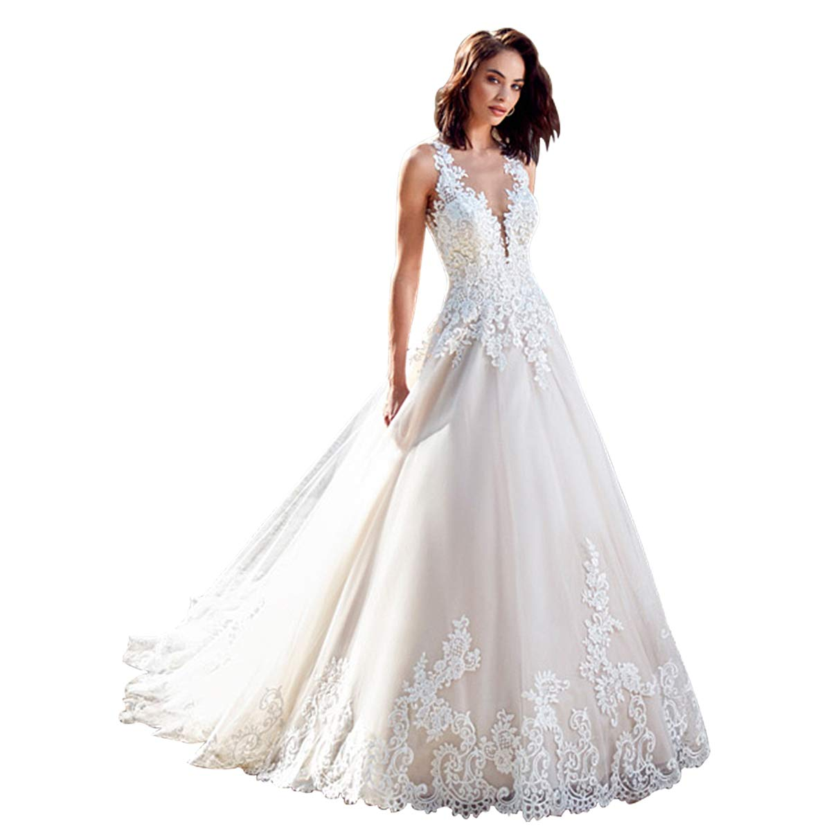 Mermaid Wedding Dresses For Bride Plus Size Casual Country Wedding