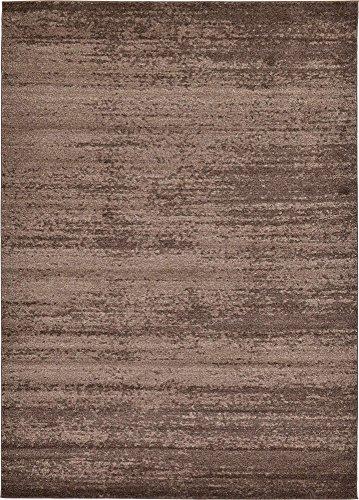 Unique Loom Del Mar Collection Contemporary Transitional Brown Area Rug (8' 0 x 11' ()