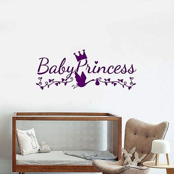 wukongsun Baby Princess Logo Word Vinilo Etiqueta de la Pared ...
