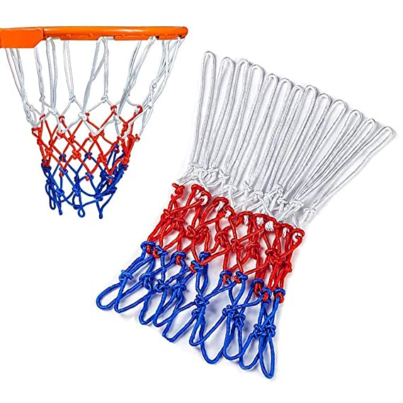 YGSAT 2 St/ück 12 Loop Heavy Duty Profi Basketball Netz Nylon Basketball Ersatz Netz Outdoor Sports B