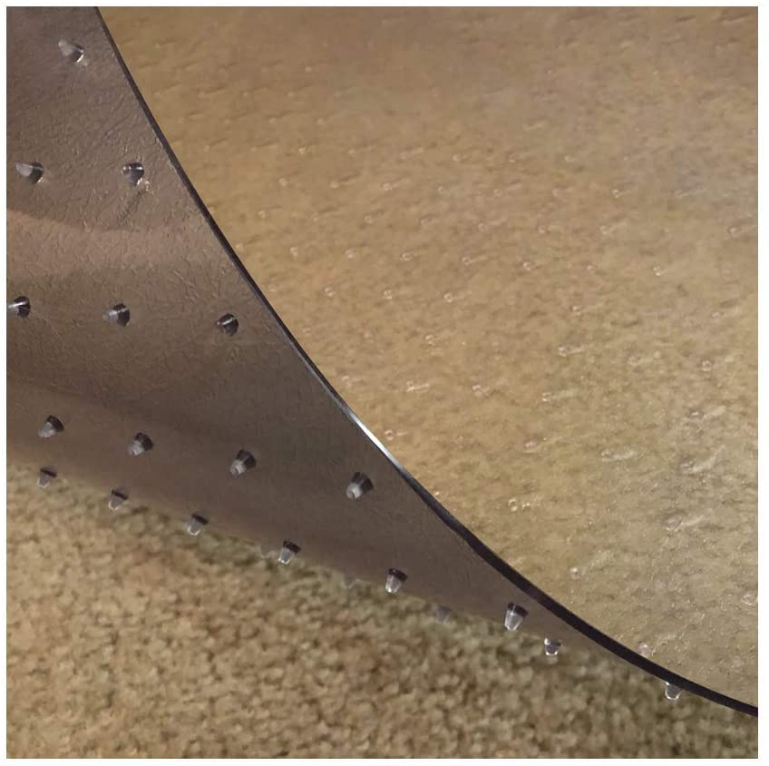 Resilia - Deluxe Clear Vinyl, Plastic Floor Runner/Protector for Deep Pile Carpet - Non-Skid, Textured Pattern, (36 Inches Wide x 6 Feet Long)
