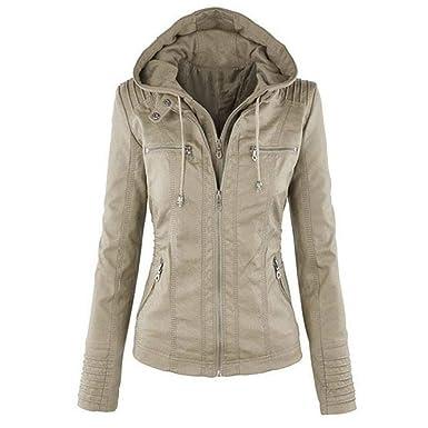Soteer Damen Winter Parka Winterjacke beiläufig Mantel Steppjacke  Übergangsjacke Double Zip Jacket 8dde3d381a