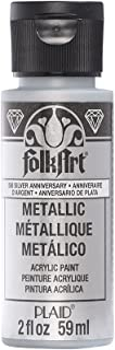 product image for FolkArt Metallic Acrylic Paint in Assorted Colors (2 oz), 506, Silver Anniversary