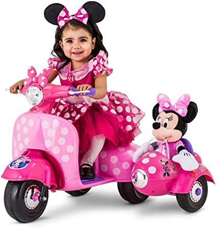 Sidecar Ride App >> 6 Volt Minnie Mouse Happy Helpers Scooter With Sidecar Ride On By Kid Trax