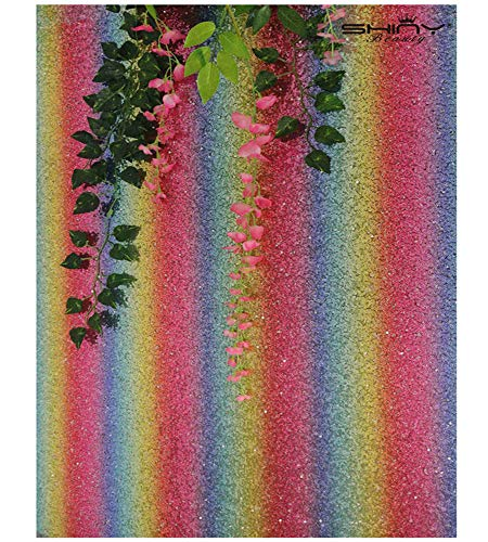 Beautiful Sequins - Sequin Backdrop Rainbow 10FTx10FT Sparkle Photography Backdrop Beautiful Multicolor Sequin Shower Birthday Wedding Party Backgrounds~190625J
