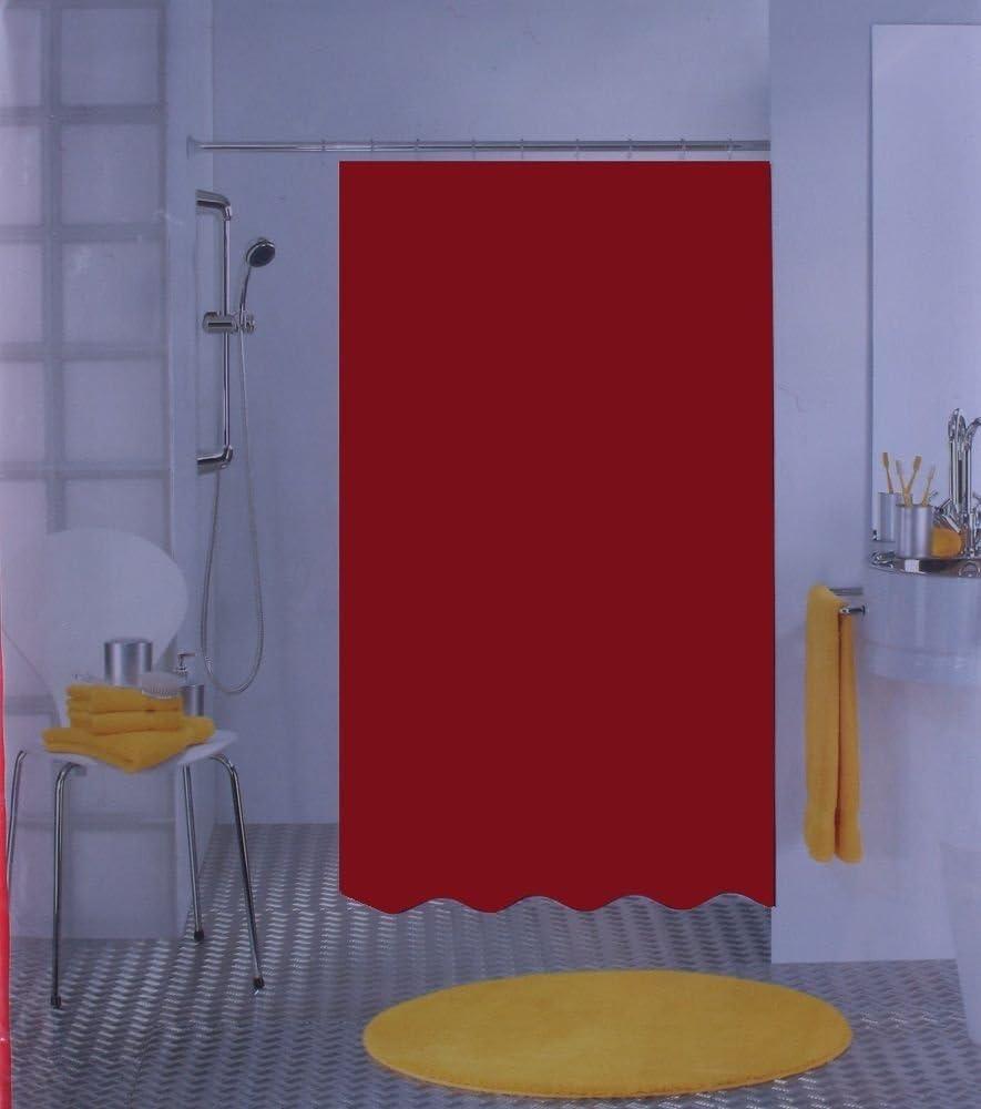 Spirella Bio Orange Shower Curtain 120 x 200 cm 100/% PEVA Swiss Design PVC Free