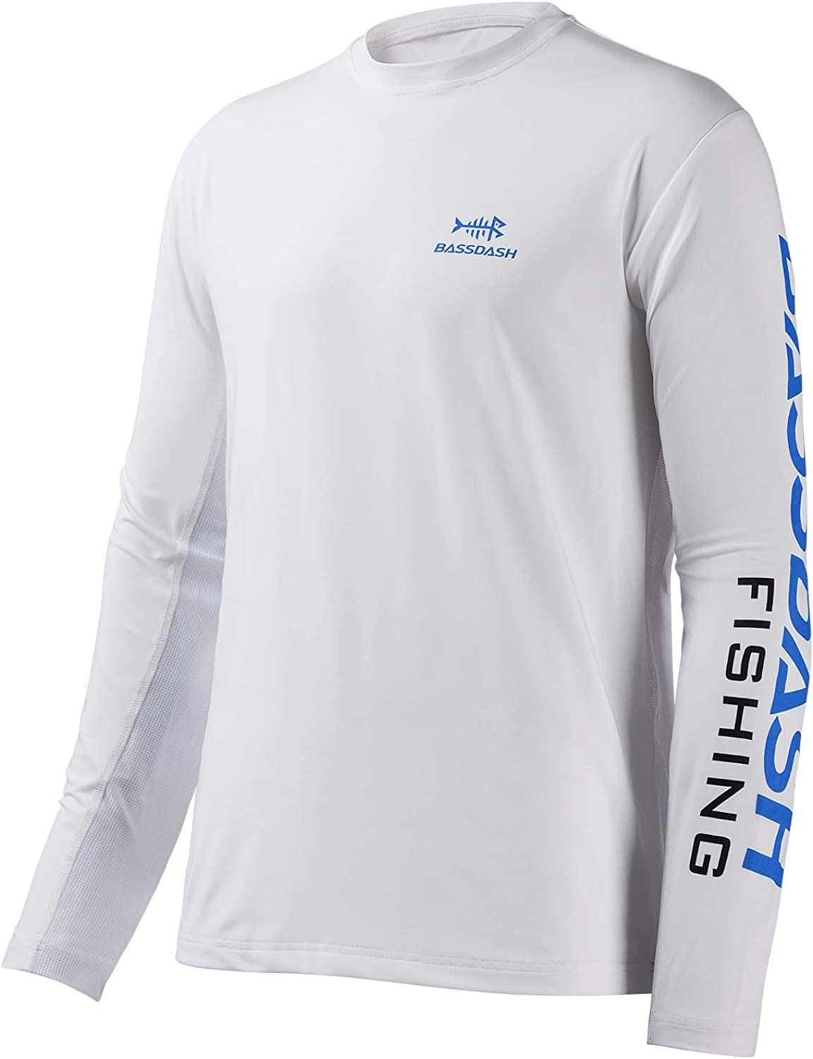 Bassdash Fishing T Shirts for Men UV Sun Protection UPF 50+ Long Sleeve Tee T-Shirt