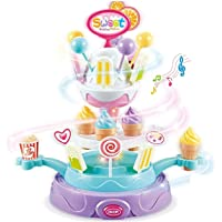 Kiwilon Candy and Ice Cream Set for Kids Pretend Play Toy for Kids with Lights and Music