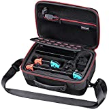 Smatree Carrying Case Compatible for Nintendo Switch-Hard Protective Portable Travel Case for Nintendo Switch Console & Accessories