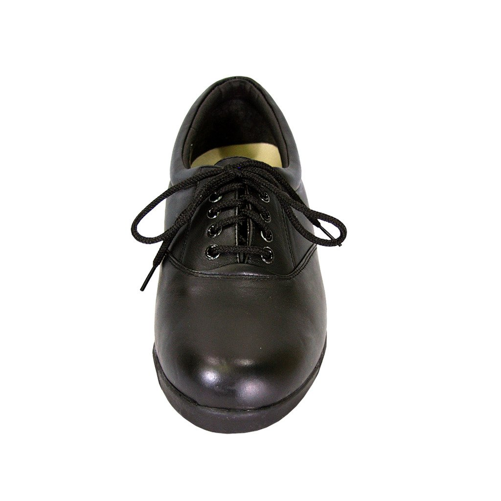 24 Hour Comfort  Debbie (1717) Women Extra Wide Width Leather Lace up Shoes Black 9 by 24 Hour Comfort (Image #3)
