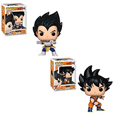 Funko POP! Animation Dragon Ball Z: Vegeta and Goku Toy Action Figure - 2 POP Bundle: Toys & Games