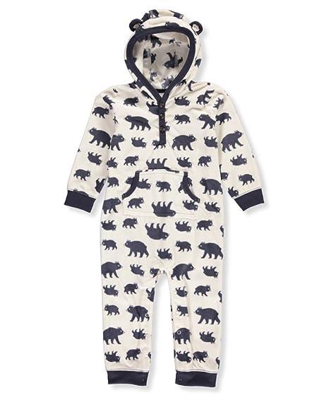 101ace623 Carters Baby Boys Hooded Bear Print Fleece Jumpsuit 9 Months  Amazon ...