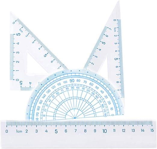 G/éom/étrie de g/éom/étrie pour les /étudiants d/école avec ensemble de lin/éaire R/ègle 45/â /° Triangle R/ègle Angle droit Triangle Rapporteur R/ègle