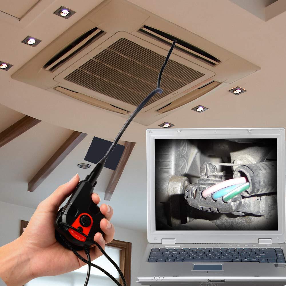 90 cm flexible Kamera Tube Endoskop Tape-Stil USB 6 einstellbare LED wasserdichte Endoskop Inspektionskamera