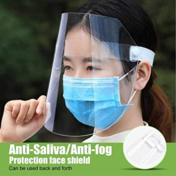 Amazon Com 2 Pack Face Shield With Elastic Band Anti Fog Face
