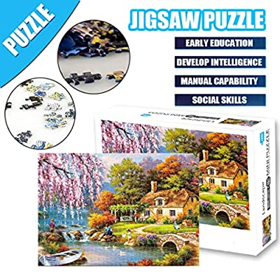 SolwDa 1000 Pieces Jigsaw Puzzles Sets for Families- Cardboard Puzzles, Brain Challenge Games Puzzle for Kids Childrens : Garden & Outdoor