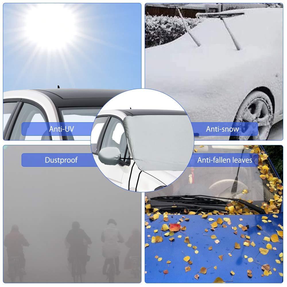 Oziral Protezione per Parabrezza Antighiaccio Copertura per Parabrezza Auto Magnetic Anti UV Antighiaccio e Antigelo per Parabrezza Adatto Copri Parabrezza per la Maggior Parte dei Veicoli