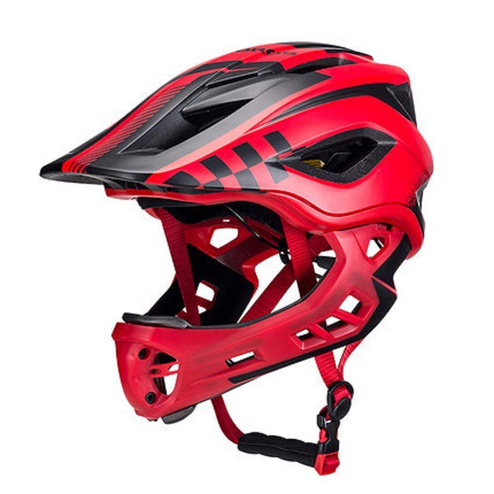 JY88 Bambini Ciclo Casco Ragazzi Ragazze Ciclismo Casco Pieno/metà Faccia Liberamente Interruttore 360 ° Ruota 3-Strato Protettivo Rimovibile Pad