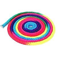 Zerone Rainbow Color Cuerda De Gimnasia Rítmica Sólida Competencia Artes Cuerda De Entrenamiento