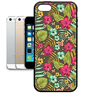 Bumper Phone Case For Apple iPhone 5/5S - Retro Hawaii Blooms Snap-On Soft Edge
