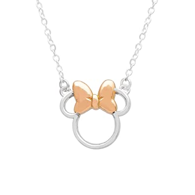 "Image result for Disney Minnie Mouse Sterling Silver Silhouette Pendant Necklace, 18"" chain,"