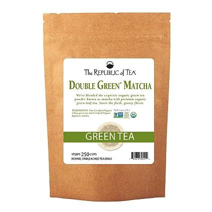 Polvo de té matcha orgánico de The Republic of Tea: Amazon ...