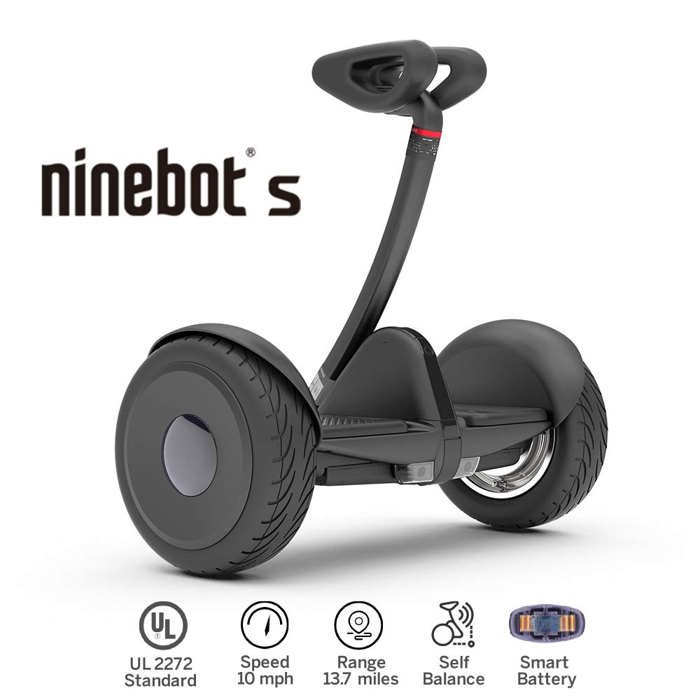 Segway Ninebot S Smart Self Balancing Transporter - Pro Hoverboard for Adults & Kids - Dual 400W Motors UL2272 Certified (Black)