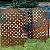 Set of 4 Bronzed Metal Privacy Screens - 23'' x 42''