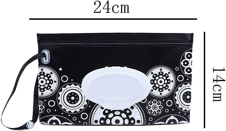 Lingette Pour B/éb/é Distributeur Pochette Grand Case R/éutilisable Porte-distributeur Dembrayage Avec Cartoon Impression Rechargeables