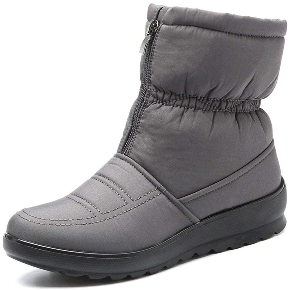 Damen es Waterproof Warm Snow Stiefel Anti-Slip Ankle Stiefelies Leisure Plus Velvet Winter Flat Outdoor Schuhe
