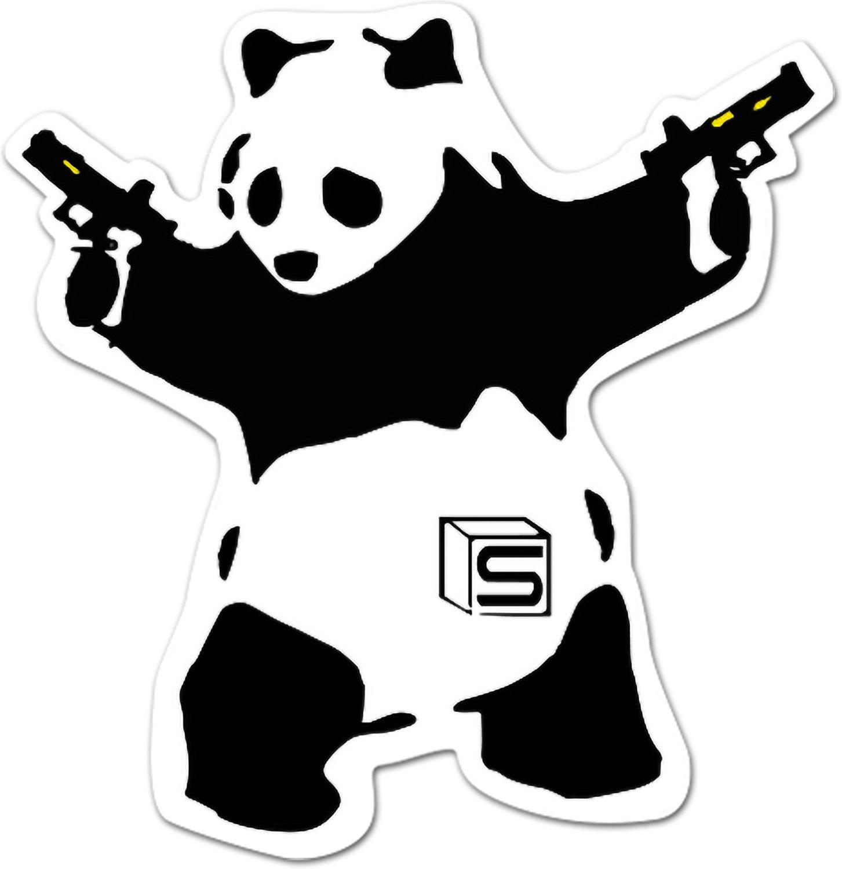 Evike - Salient Arms International Akimbo Panda 3'' Die Cut Sticker